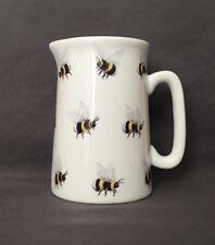 Bone China Half Pint Jug Bumble Bee Pattern Hand Decorated Wales Gift