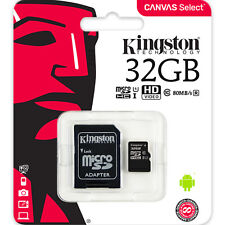 Kingston 32GB Micro SD SDHC MicroSD Class 10 Tarjeta Memoria 32 GB Canvas Select