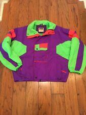 90's Vtg RAD Ski Jacket Neon Color Block Mens Size M Liberty bell