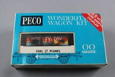 Z504 PECO train HO /oo Gauge Wonderful Wagon Kits Coal ( 7 Plank ) S.mosley