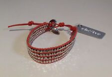 """NEW in pack EB&IVE Ochre (Orange) Silver Bead Trim """"Time Out Cuff"""" Bracelet"""