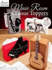 Plastic Canvas Pattern Book MUSIC ROOM Tissue Toppers ~ Guitar, Piano, Drums ++