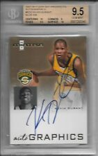 KEVIN DURANT 2007-08 Fleer AUTO BLUE Ink Rookie - BGS 9.5 GEM MINT -POP 2!!
