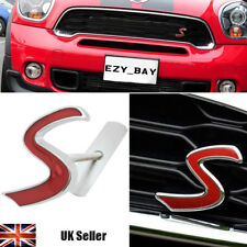 MINI Cooper One Red 'S' 3D Chrome Front Grille Badge Emblem Aftermarket R53 R54