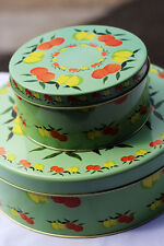 """Nested Italian gift tins / storage food containers - """"Agrumi"""" (Citrus) x 2"""