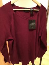 Studio By Liz Claiborne V Neck Sweater 3X New With Tags 100% Cotton