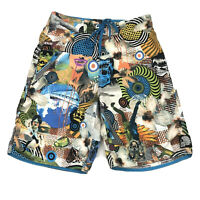 Rip Curl The Search Board Shorts Swim Trunks Surf Beach Collage Mens Size 30