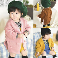 Toddler Child Girl Winter Ball In Hand Down Sweater Jacket Knit Tops Cardigan