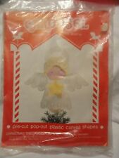Angel Christmas Tree Topper Complete Kit Plastic Canvas NIP 1982