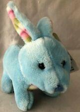 Greenbrier International Bunny Rabbit Plush Stuffed Animal Blue W/Pink Stripes
