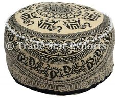 Mandala Ottoman Pouf Cover Large Elephant Ethnic Boho Footstool Pouffe Cover
