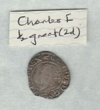 More details for charles i silver half groat star mint mark in a used condition
