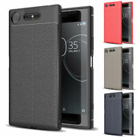 Luxury Soft Silicone Case Leather Skin Shockproof Cover For Sony Xperia XZ1 XZS