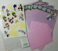 Vintage Looney Tunes Bugs Stationery 6 Sheets 4 Envelopes Stickers Comic Strip
