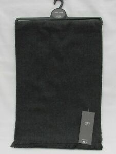 MEN'S MARKS AND SPENCER GREY MARL & NAVY SOFT TOUCH SCARF ONE SIZE