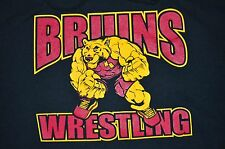 Bruins Wrestling Appell Black Pullover Hoodie Brand Jerzees Size 2X AWESOME