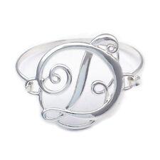 Monogram Style English Alphabet Letter Initial D Bangle Bracelet Women Jewelry