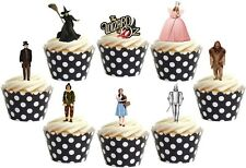 16 x  WIZARD OF OZ Premium wafer Edible cake party toppers STAND UPS