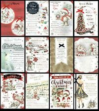 QUALITY - LOVELY WORDS - CHRISTMAS CARD Son Daughter Brother Sister Mum Dad Ect.