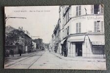 CPA. SAINT MAUR. 94 - Rue du Pont de Créteil. Au Départ des Tramways. Huitres.
