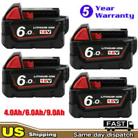 4X For Milwaukee M18 Lithium XC 6.0 Ah Extended Capacity Battery Pack 48-11-1852