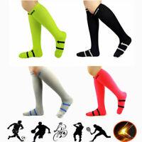 20-30 mmHg Men Anti-Slip Sports Socks Football Long Knee Basketball Sock L size