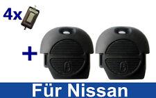 2 Schlüssel Gehäuse Für Nissan Primera Almera Terrano X-Trail Micra+4 Taster