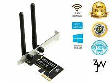 Desktop PCI Express WiFi Adapter 300Mbps 2.4Ghz Network Card Windows 7 10 NEW