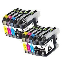 10 Druckerpatronen für Brother MFC-J650DW MFC-J870DW MFC-J4610DW LC121 LC123 XL