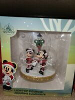 New 2020 Disney Parks Light Up Figurine Christmas Holiday Mickey & Minnie Mouse