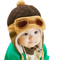 Baby Winter Warm Hat Toddlers Pilot Cap For Boy Girls Infant Thermal Beanie Hats