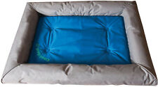 "K&H Pet Cool Dog Bed Deluxe Dog Bed 25"" x 32"" x 4"" Grey/Blue"