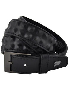 Lowlife Cover Up Slim Leather Belt in Black