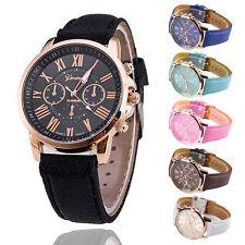 Ladies Women Mens Girls Analog Quartz Wrist Watches Trendy Leather Strap