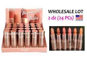 Amuse Magnificent Mattes Lipstick - WHOLESALE LOT 2 dz (24 PCs)