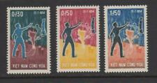1964 Vietnam Stamps South Vietnamese Gesturing to North Sc # 239 - 41 MNH