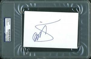 Monica Seles Tennis Authentic Signed 4X6 Index Card Autographed PSA/DNA Slabbed
