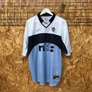 Rangers Nike Away Shirt 1999/2000 - XL - Top Kit Jersey Vintage Genuine (QB248)