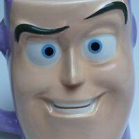 Disney Pixar Buzz Lightyear Toy Story 3D Face Mug Cup Kinnerton Purple