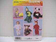 Simplicity Pattern 2506 Children's Toddler's Costumes Size 1/2-4 Dragon Angel