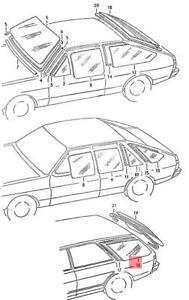 Genuine Volkswagen Side Window Right NOS Audi Fox Dasher 33 82 83 84 331845332