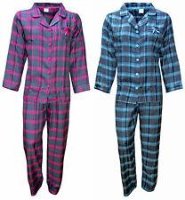 Schöner Flanell Damen Schlafanzug Pyjama, in 2 Farben, kariert,Größen S-XL