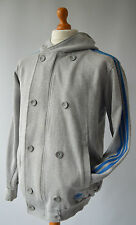 Men's Grey adidas Hooded Casual Sports Jacket Size L, Large.