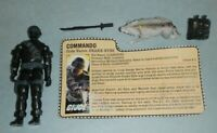 1985 GI Joe Commando Snake Eyes v2 Timber Wolf Figure w/ File Card *BROKEN READ*
