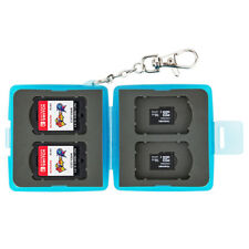 Memory Card Case for 4 Nintendo Switch Game Cards and 4 Micro SD / Blue