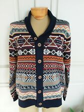 Buffalo mens multicolor knitted cardigan sweater sz M