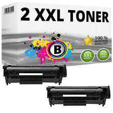 2x tóner HP q2612a 12a para LaserJet 1020 3030 3050 Z 3052 3055 1005 MFP 1319f