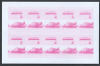 St. Vincent Railway Locomotives Imperf Magenta Proof Sheet #S305