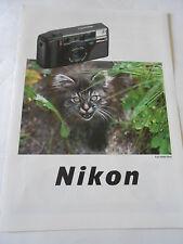 Publicité 1981  Appareil Phot NIKON chaton AD