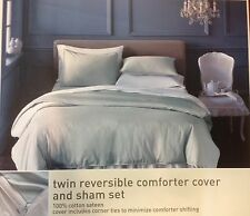 Twin reversible cotton comforter cover duvet and pillow sham FREE SHIPPING